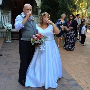 Wedding celebrant Brisbane Sandy and Darren