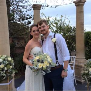 Annaleise and Gareth at The Court House Restaurant, Cleveland with Gwen Inglis Wedding Celebrant Brisbane