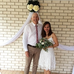 James and Mae's wedding ceremony with Gwen Inglis Wedding Celebrant Brisbane