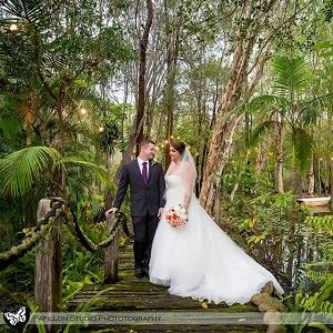 Jo and Demi's wedding ceremony at Macarthur Park Wedding Gardens with Gwen Inglis Wedding Celebrant Brisbane