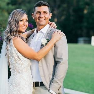 Mel and Mason's wedding ceremony at Austin Villa Estate with Gwen Inglis Wedding Celebrant Brisbane