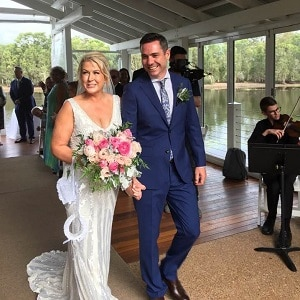 Narell and Dale's wedding ceremony at Sirromet Winery with Gwen Inglis Wedding Celebrant Brisbane